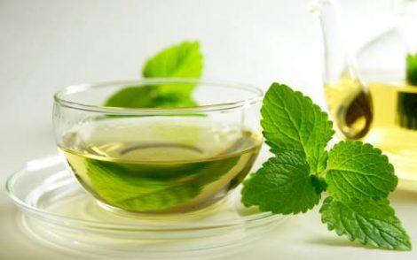 دمنوش نعناع فلفلی + چای سبز